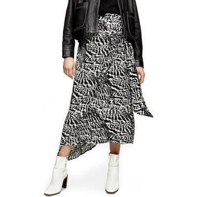 Topshop Animal Print Maternity Sarong Skirt, US - Black