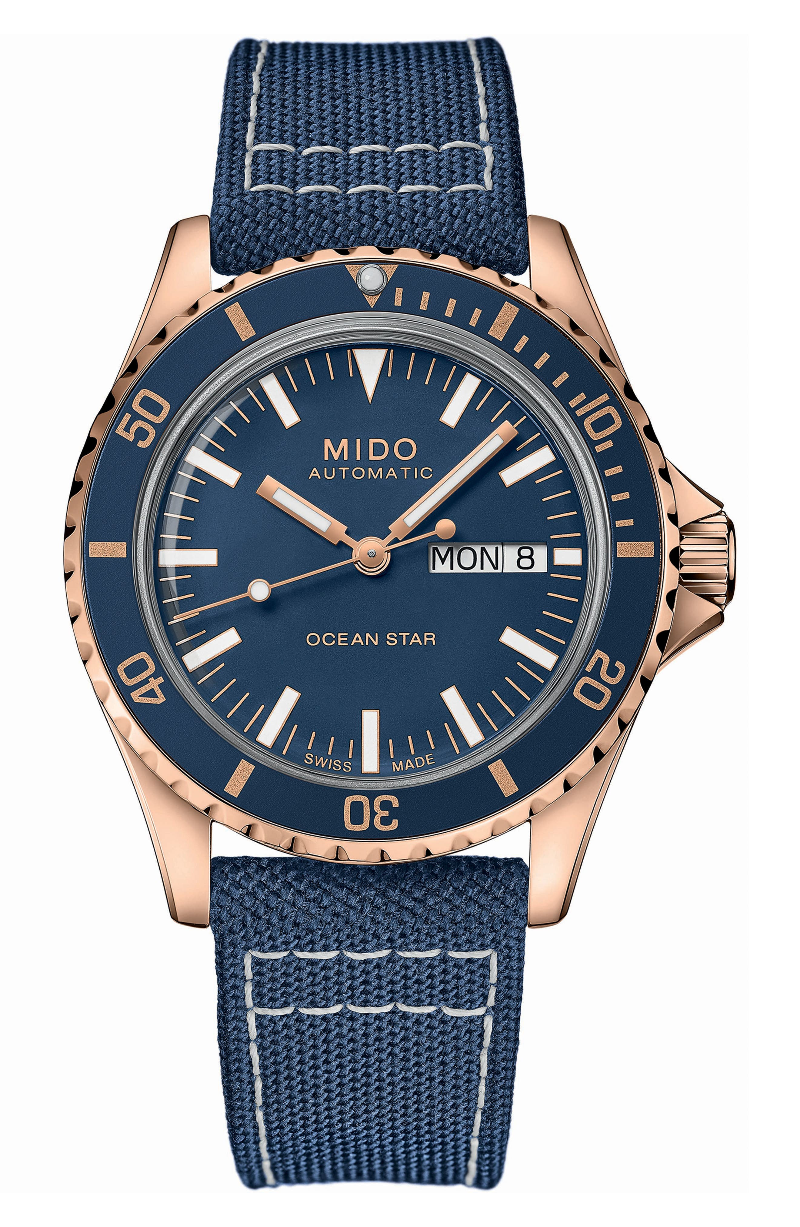 Ocean Star Tribute Automatic Textile Strap Watch