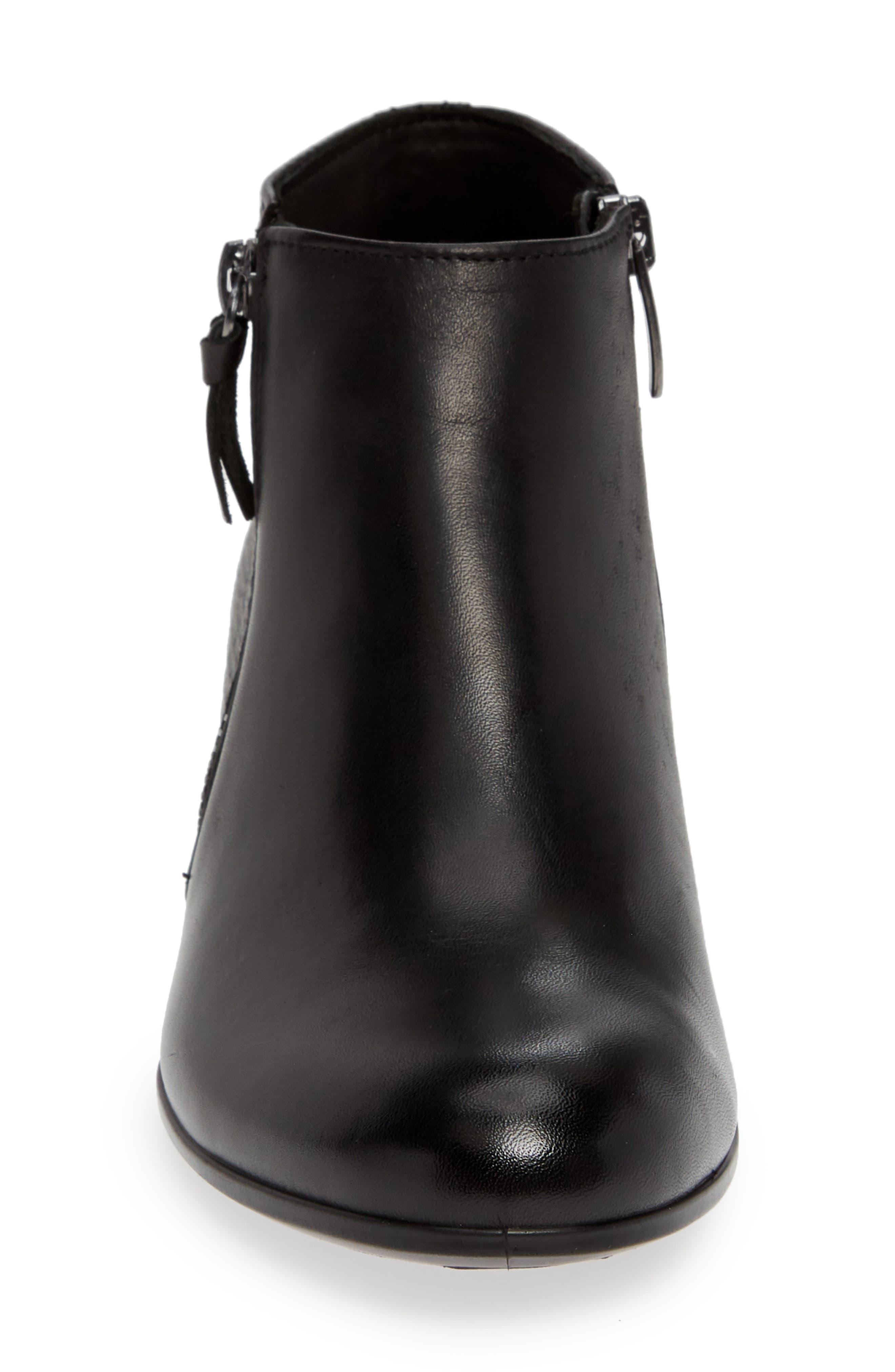 ,                             Shape 35 Ankle Bootie,                             Alternate thumbnail 4, color,                             BLACK LEATHER