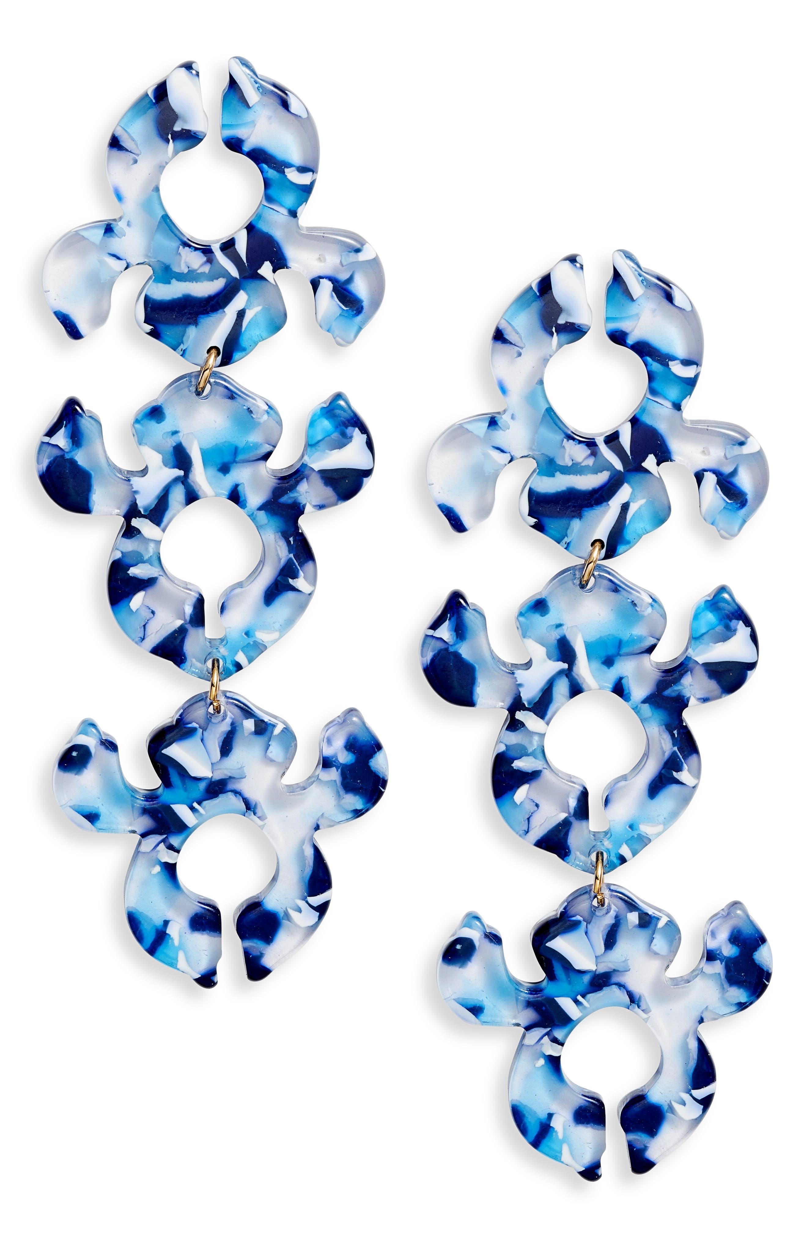 Iris Bouquet Shadow Drop Earrings, Main, color, 400