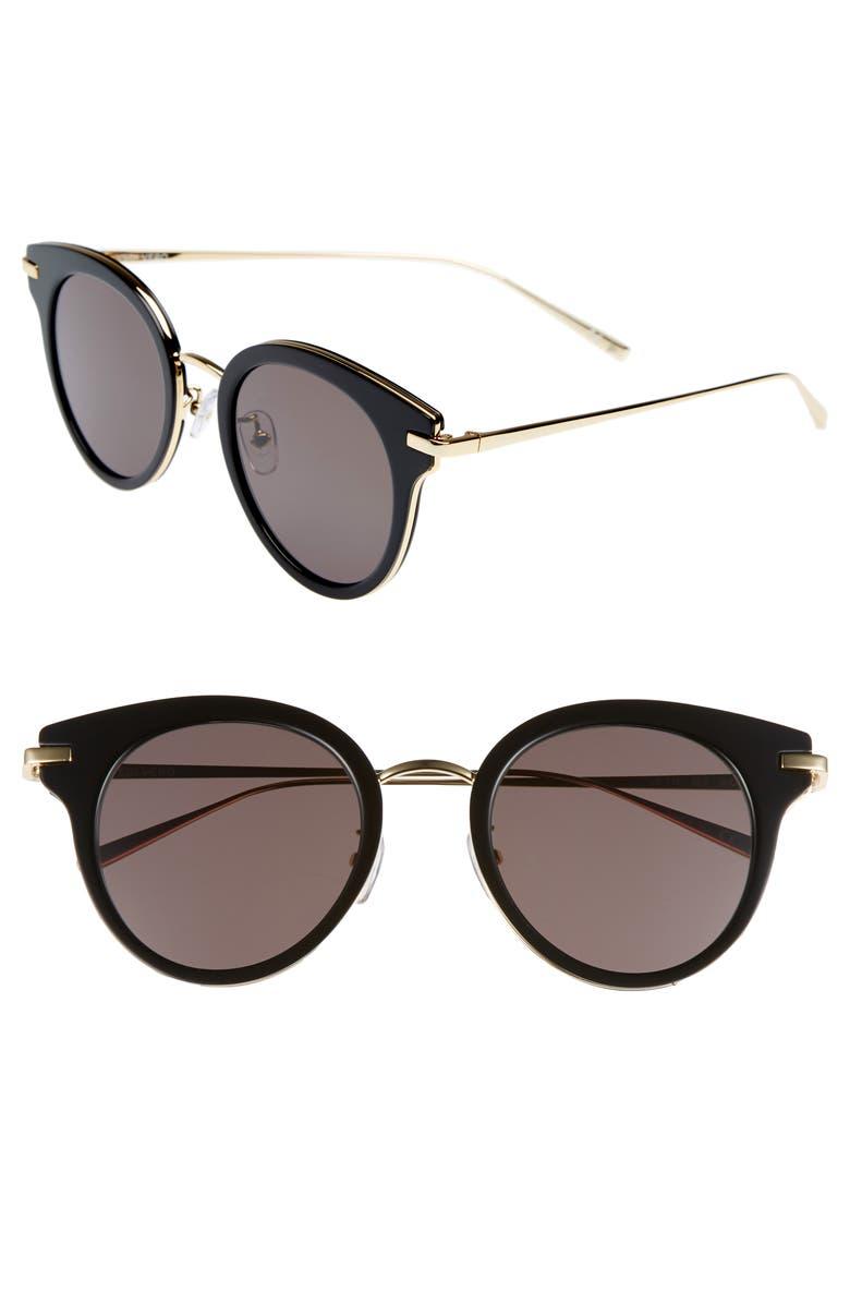 VEDI VERO 50mm Round Sunglasses, Main, color, 003