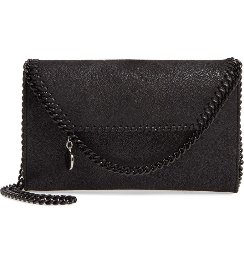STELLA MCCARTNEY Falabella Faux Leather Crossbody Bag, Main, color, 001