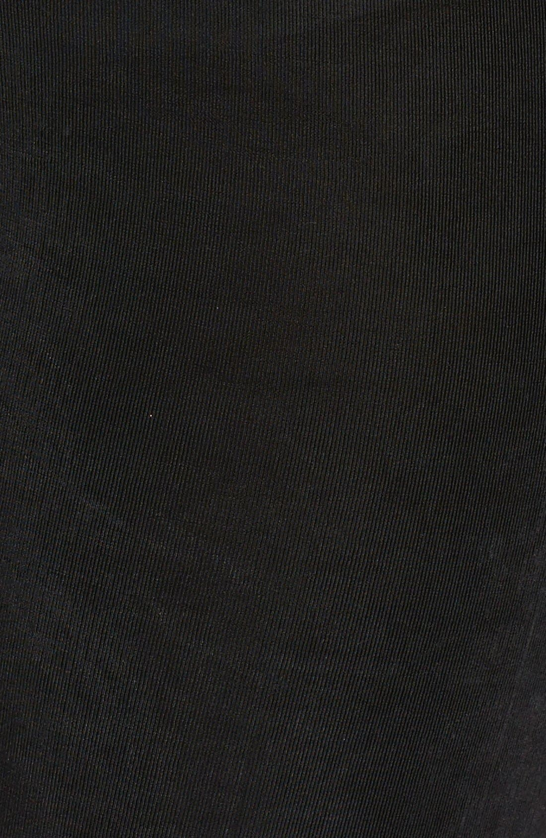 ,                             High Rise Stretch Knit Slim Pants,                             Alternate thumbnail 3, color,                             BLACK