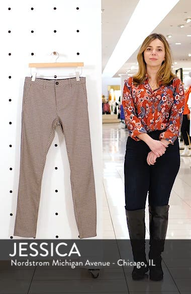 Skinny Fit Puppytooth Stretch Trousers, sales video thumbnail