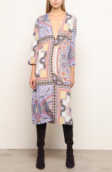 Handkerchief Hem Silk Cover-Up Dress, video thumbnail