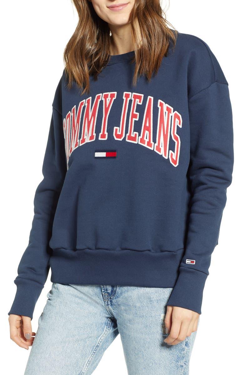 TOMMY JEANS Classics Logo Sweatshirt, Main, color, 405