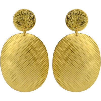 Karen London Fontana De Trevi Textured Drop Earrings