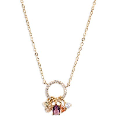 Nordstrom Pave Ring Mix Crystal Pendant
