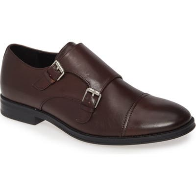 Calvin Klein Winthrope Double Monk Strap Shoe- Brown