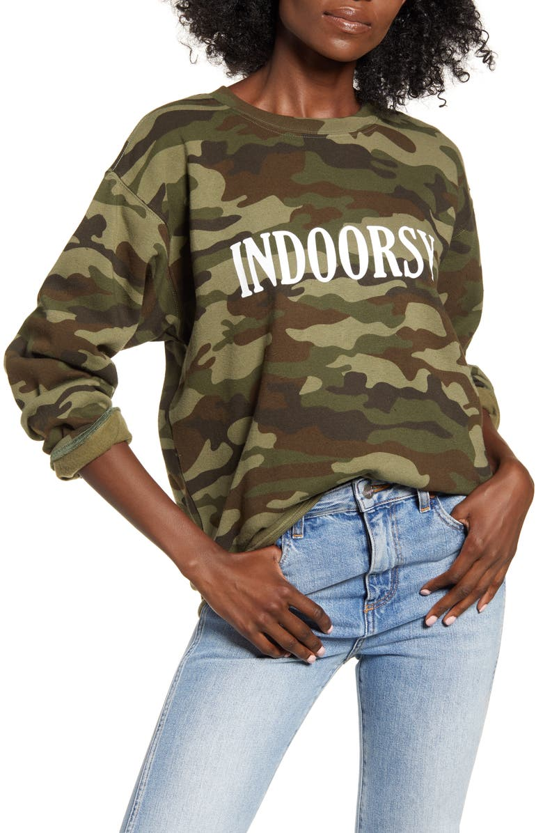 SUB_URBAN RIOT Indoorsy Camo Sweatshirt, Main, color, CAMO
