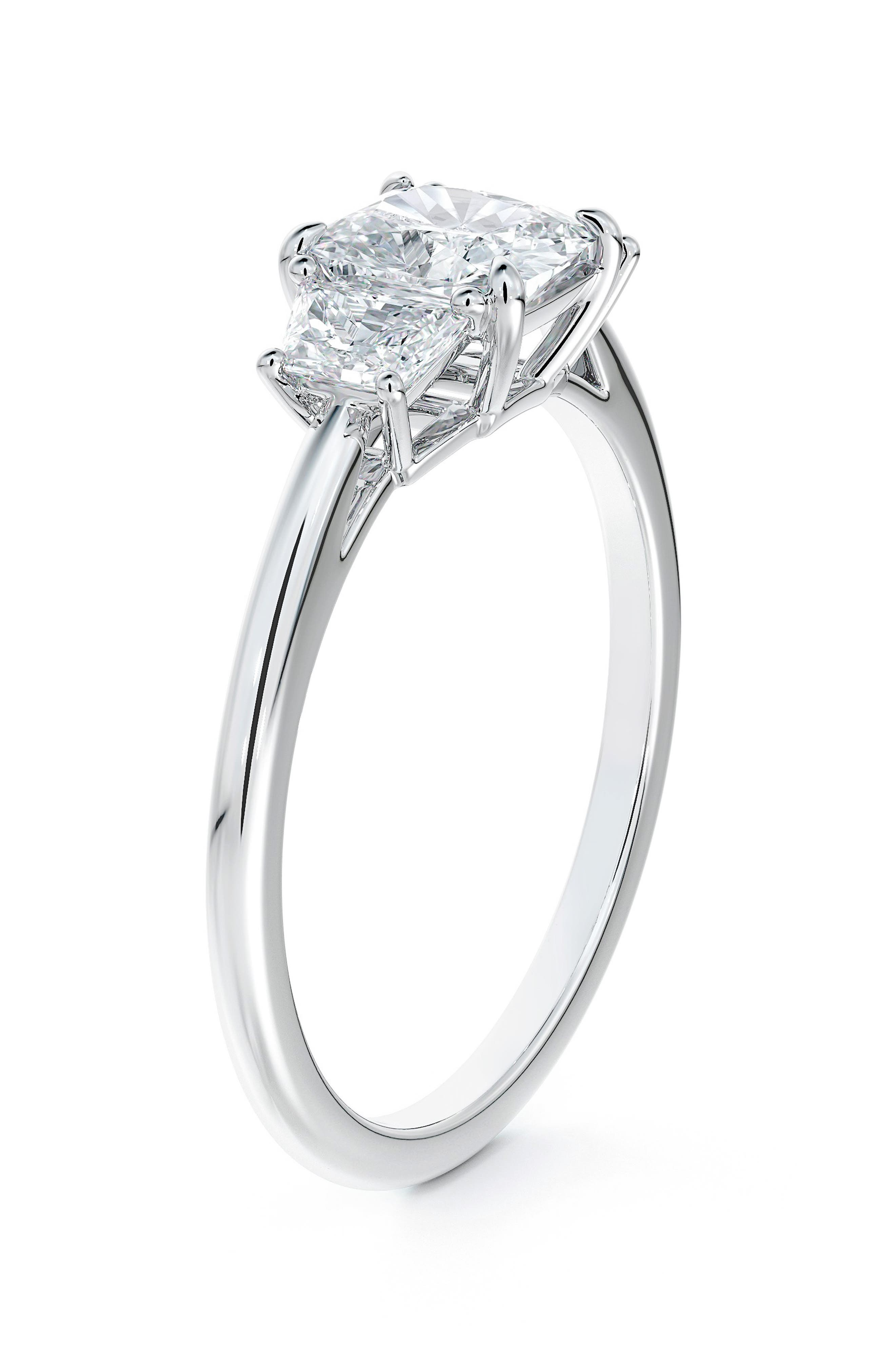 X Micaela Three Stone Illusion Diamond Engagement Ring