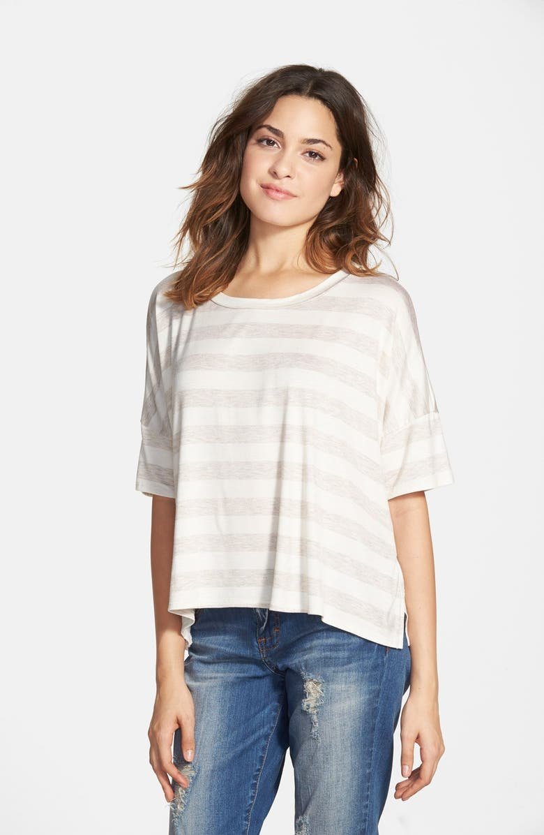 MIMI CHICA Stripe Boxy Tee, Main, color, 020