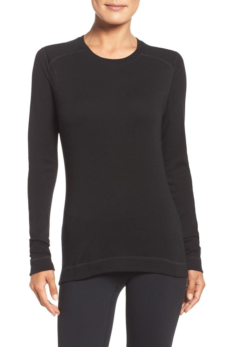 SMARTWOOL Crewneck Tee, Main, color, BLACK