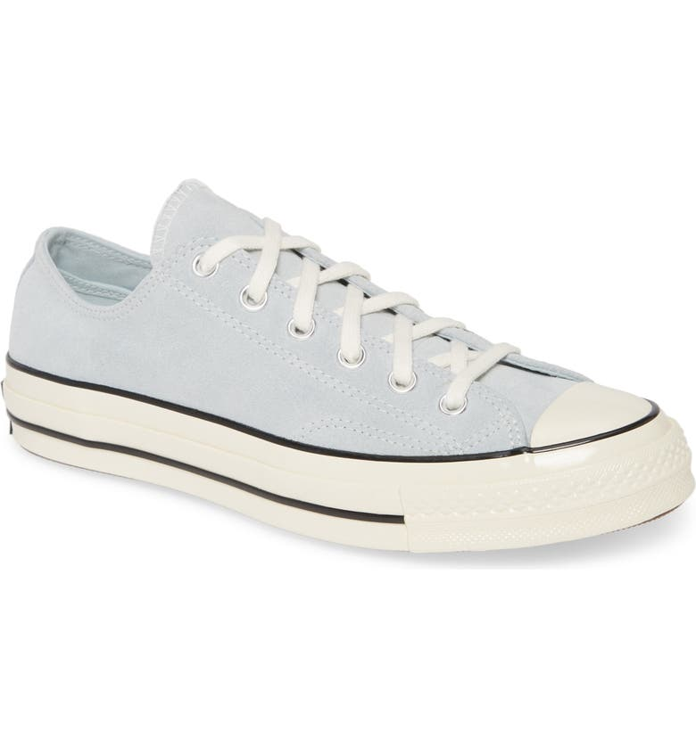 CONVERSE Chuck Taylor<sup>®</sup> All Star<sup>®</sup> 70 Suede Low Top Sneaker, Main, color, POLAR BLUE/ BLACK/ EGRET SUEDE