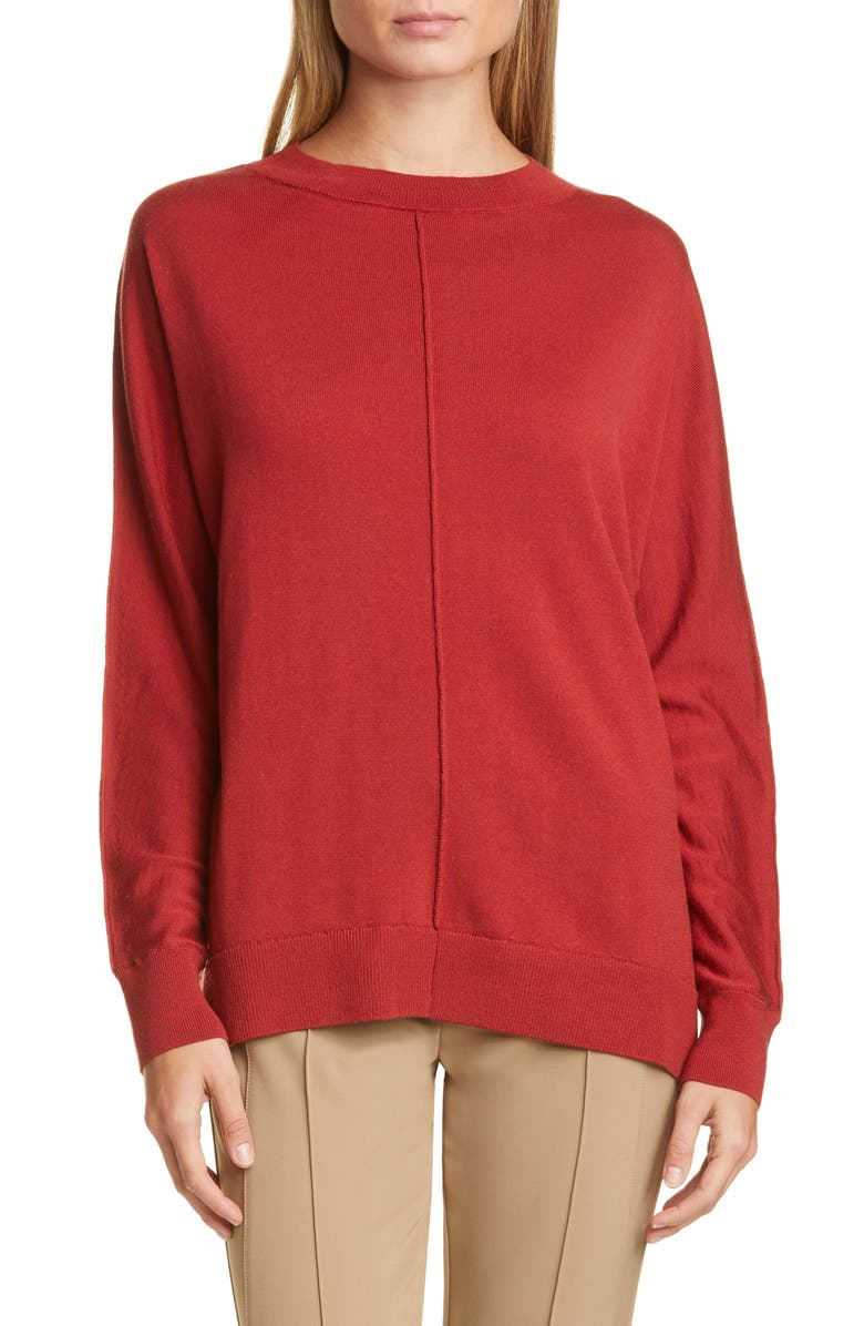 LAFAYETTE 148 NEW YORK Relaxed Dolman Sweater, Main, color, CARNELIAN