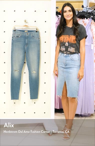 Looker Ripped High Waist Fray Ankle Skinny Jeans, sales video thumbnail