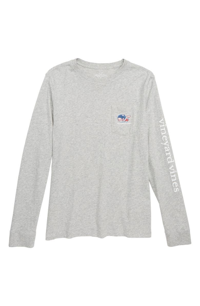 Vineyard Vines Pro Hockey Whale Pocket T Shirt Big Boys