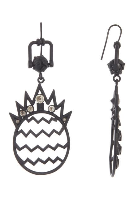 Image of Valentino Embellished Pineapple Spike Drop Earrings