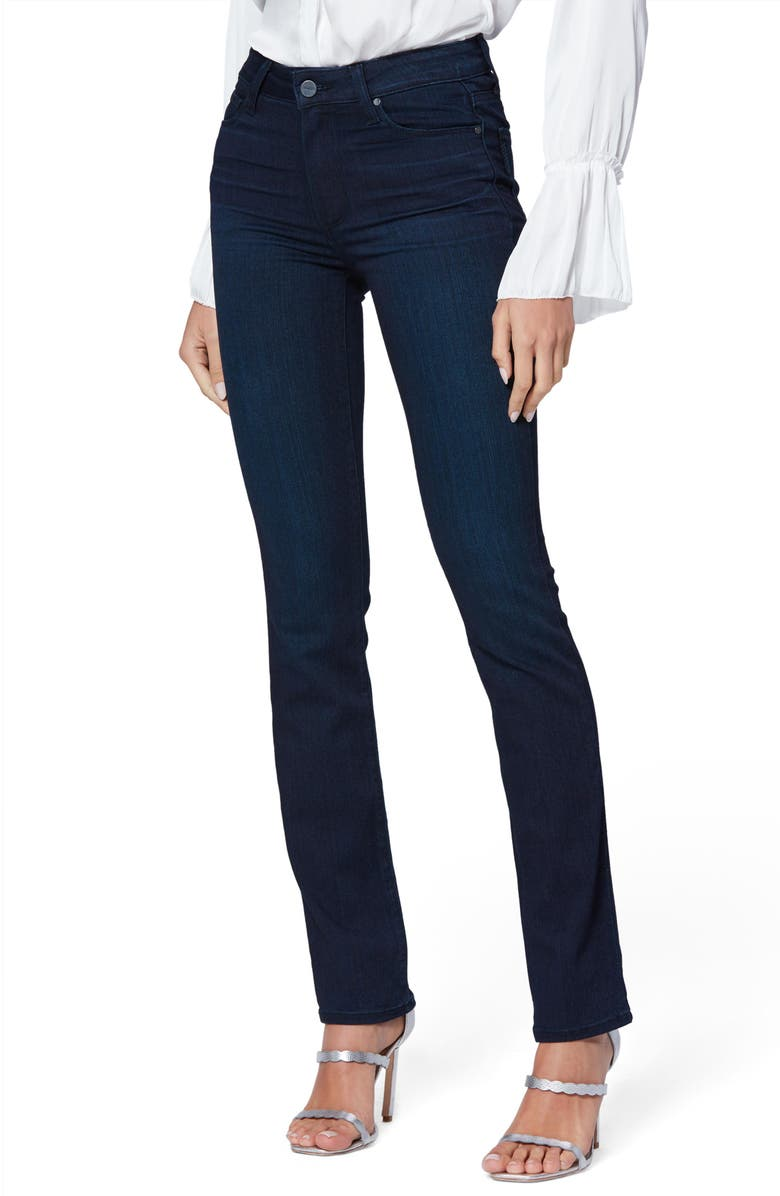 PAIGE Transcend - Hoxton High Waist Slim Straight Leg Jeans, Main, color, CINEMA