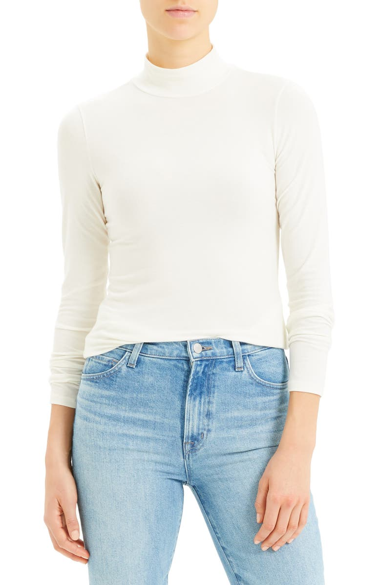 THEORY Turtleneck Top, Main, color, IVORY