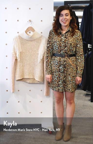 Fringe Turtleneck Pullover, sales video thumbnail