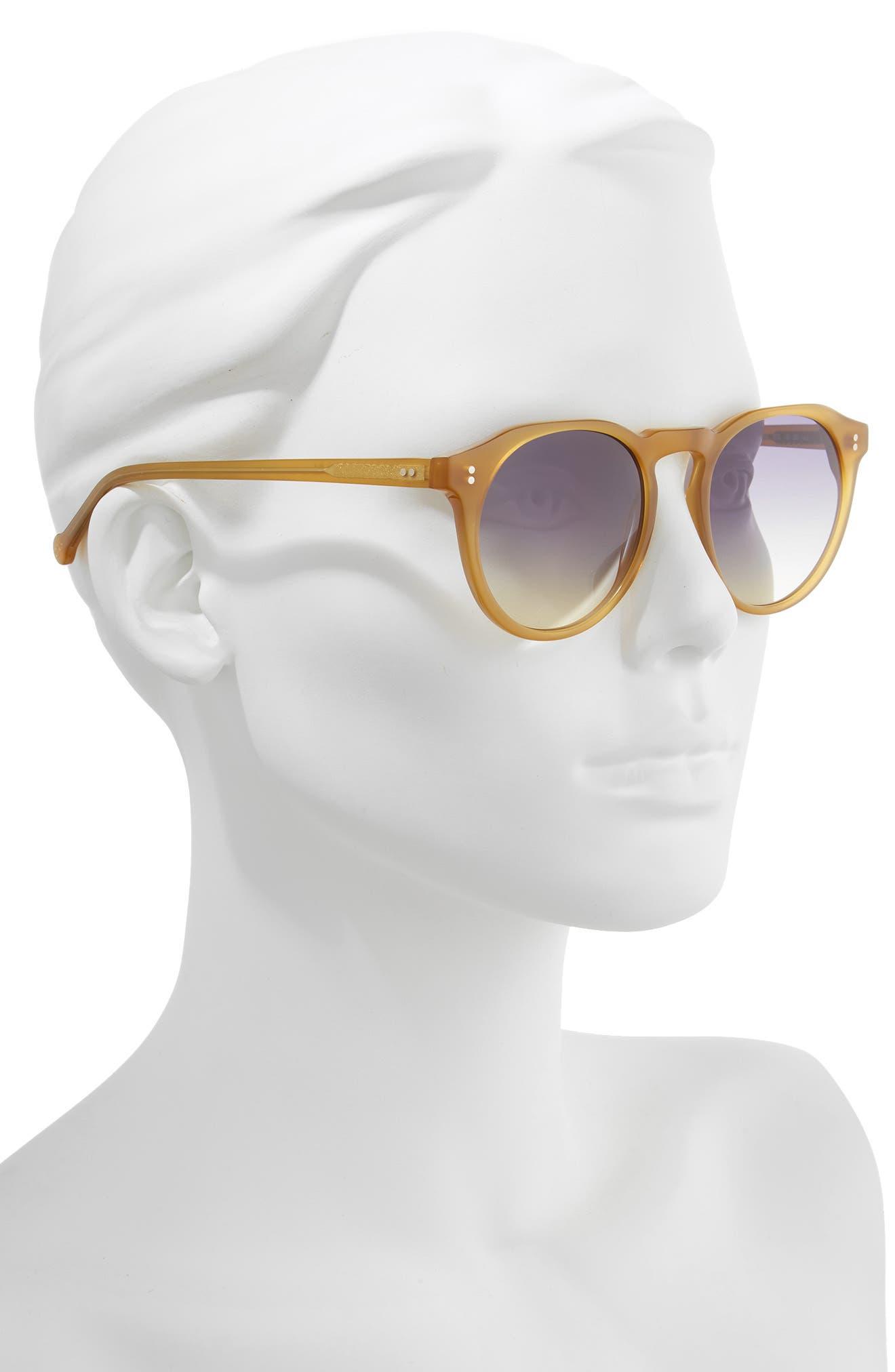 ,                             Sandy 51mm Gradient Round Sunglasses,                             Alternate thumbnail 2, color,                             BUTTERSCOTCH