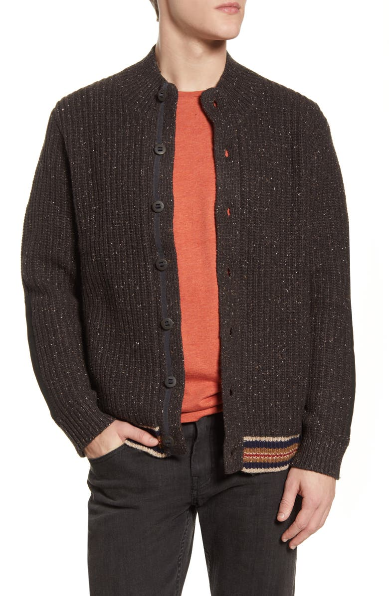 PENDLETON San Miguel Neppy Wool & Nylon Cardigan, Main, color, BROWN
