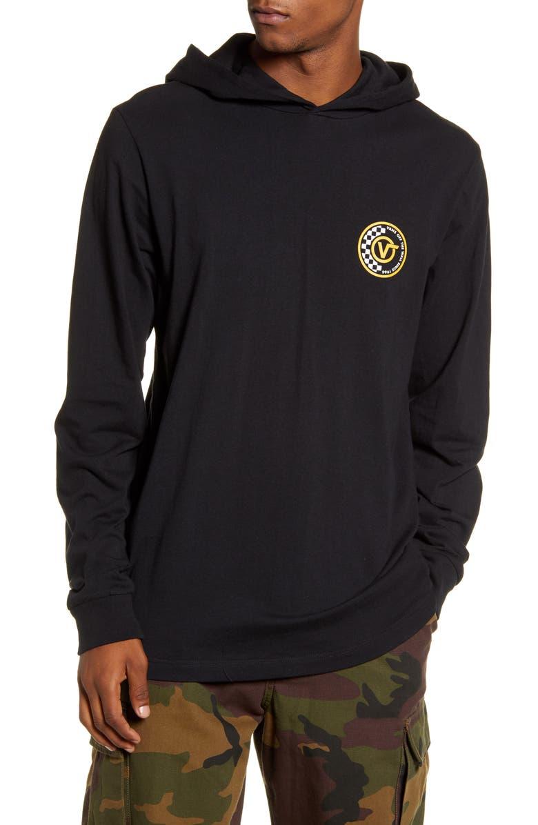 VANS Van Doren Hooded Graphic T-Shirt, Main, color, BLACK/ OLD GOLD