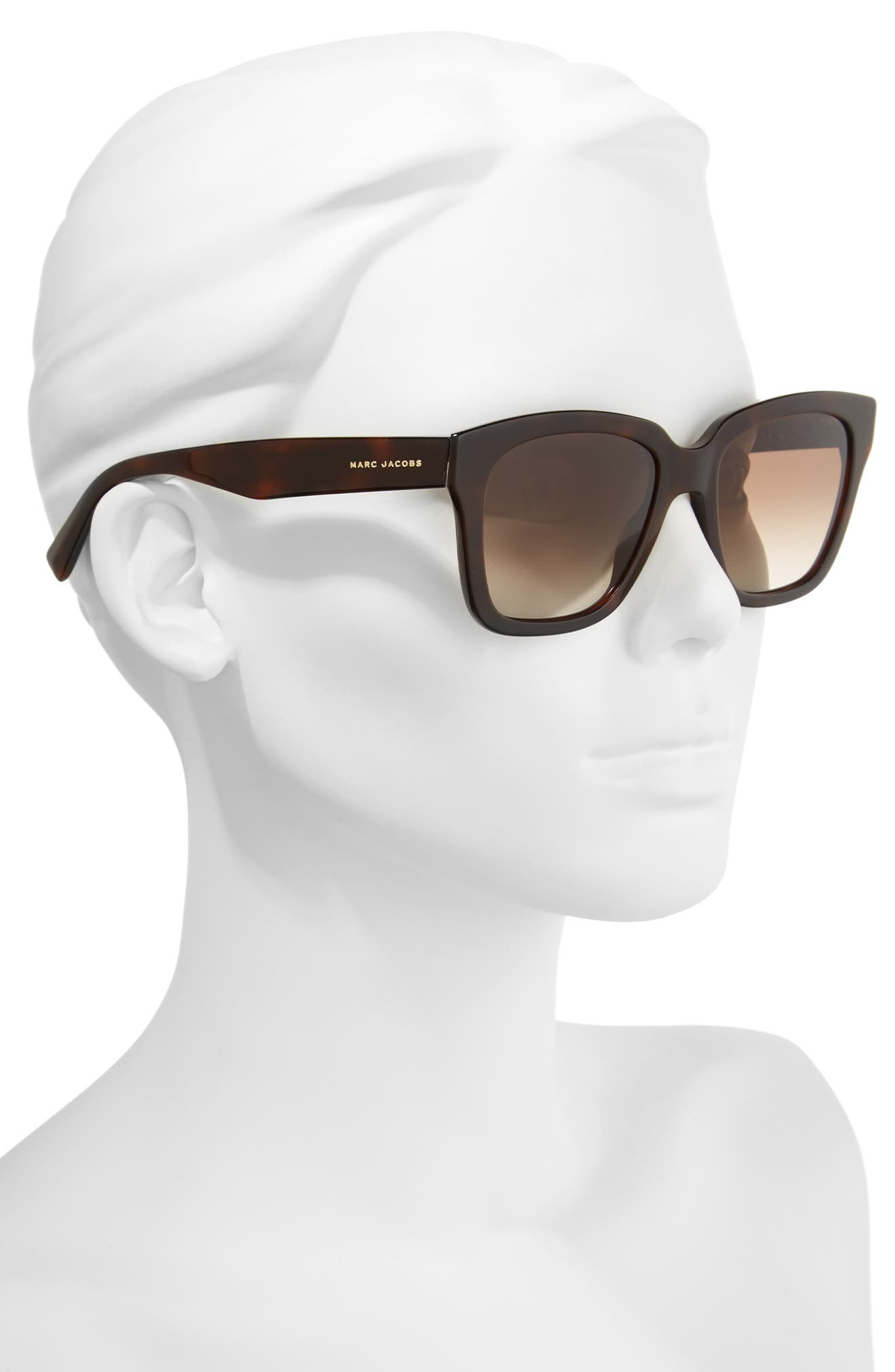 ,                             52mm Square Sunglasses,                             Alternate thumbnail 2, color,                             HAVANNA BROWN/ GOLD