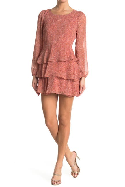 Image of ROW A Tiered Long Sleeve Dress