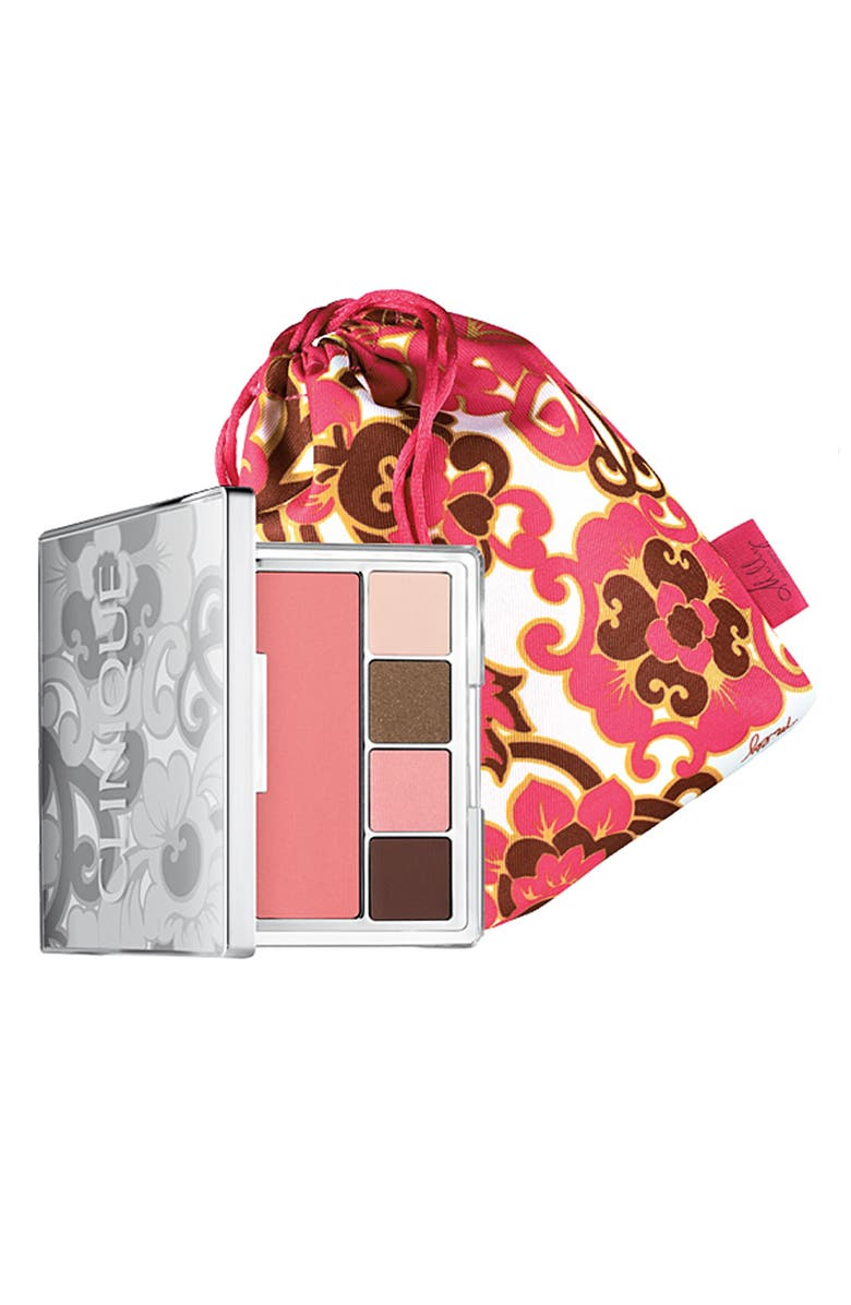 CLINIQUE 'Pretty in Prints' Eye & Cheek Compact, Main, color, 000