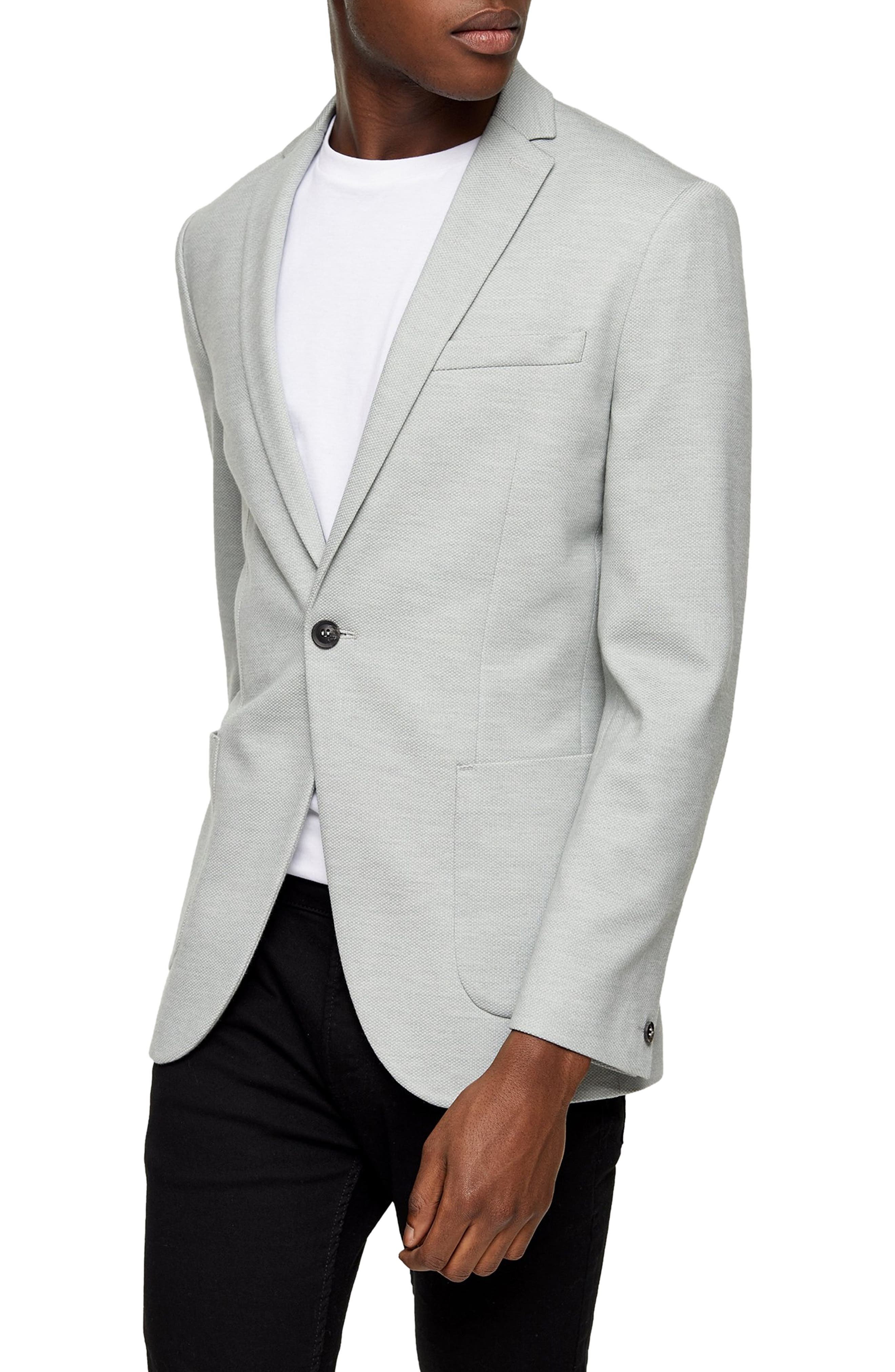 Image of TOPMAN Skinny Fit Knit Sport Coat