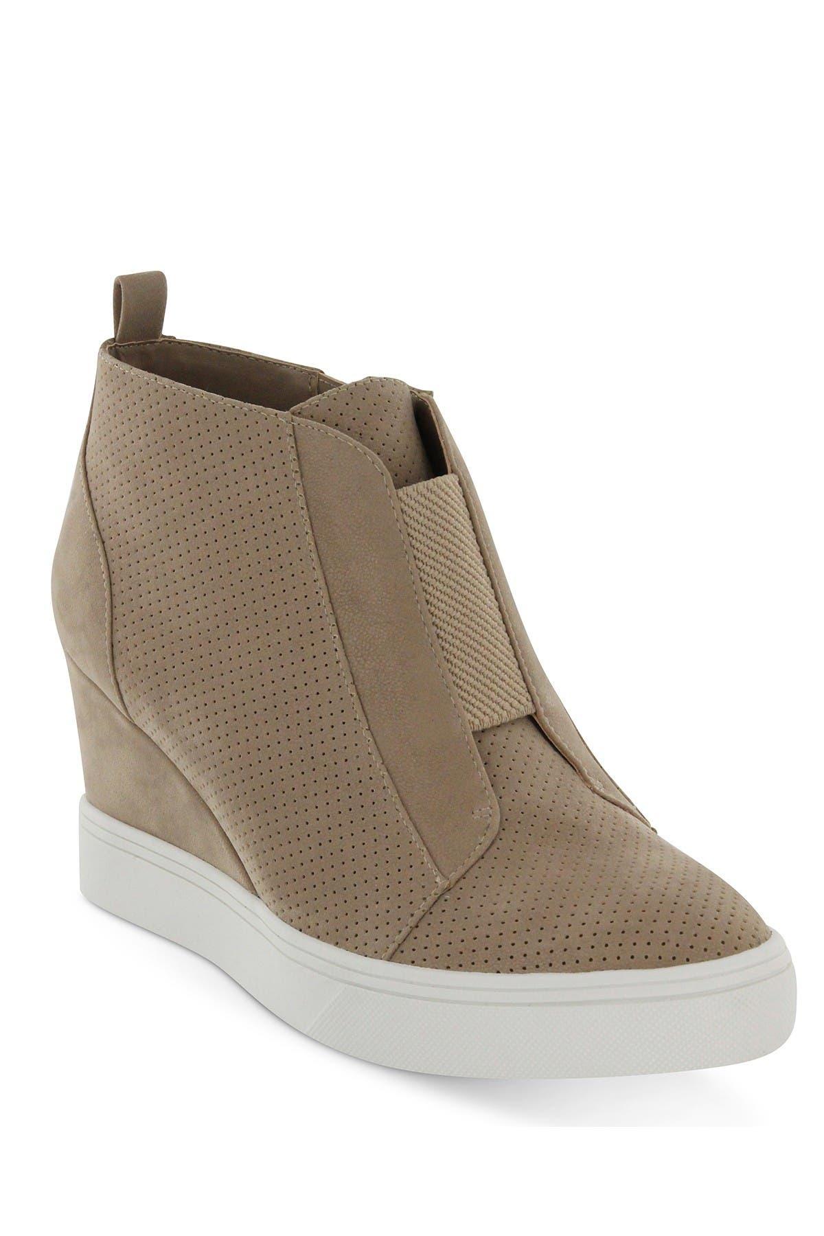 grey wedge sneaker