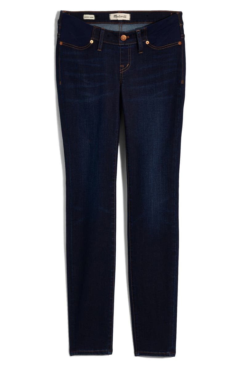 MADEWELL Maternity Side-Panel Skinny Jeans Adjustable Tencel<sup>®</sup> Lyocell Edition, Alternate, color, LARKSPUR