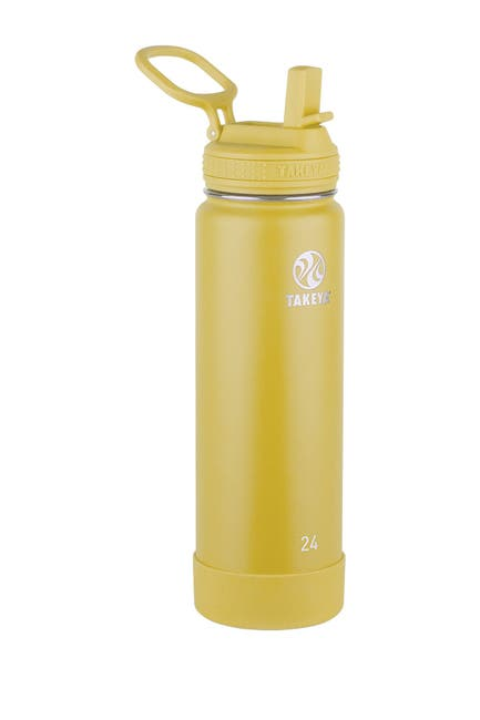 Image of Takeya Actives Insulated 24 oz. Stainless Steel Bottle with Straw Lid - Canary