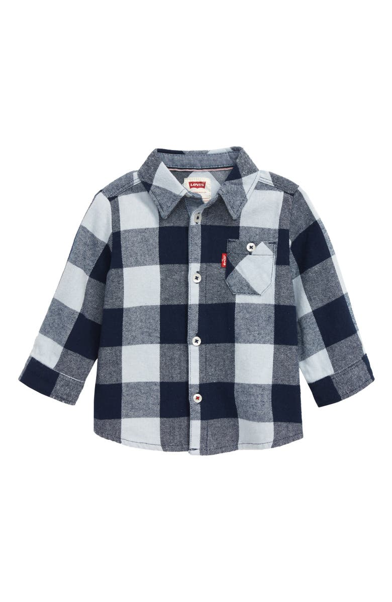 LEVI'S<SUP>®</SUP> Levi's<sup>®</sup> Long Sleeve Flannel Shirt, Main, color, 400