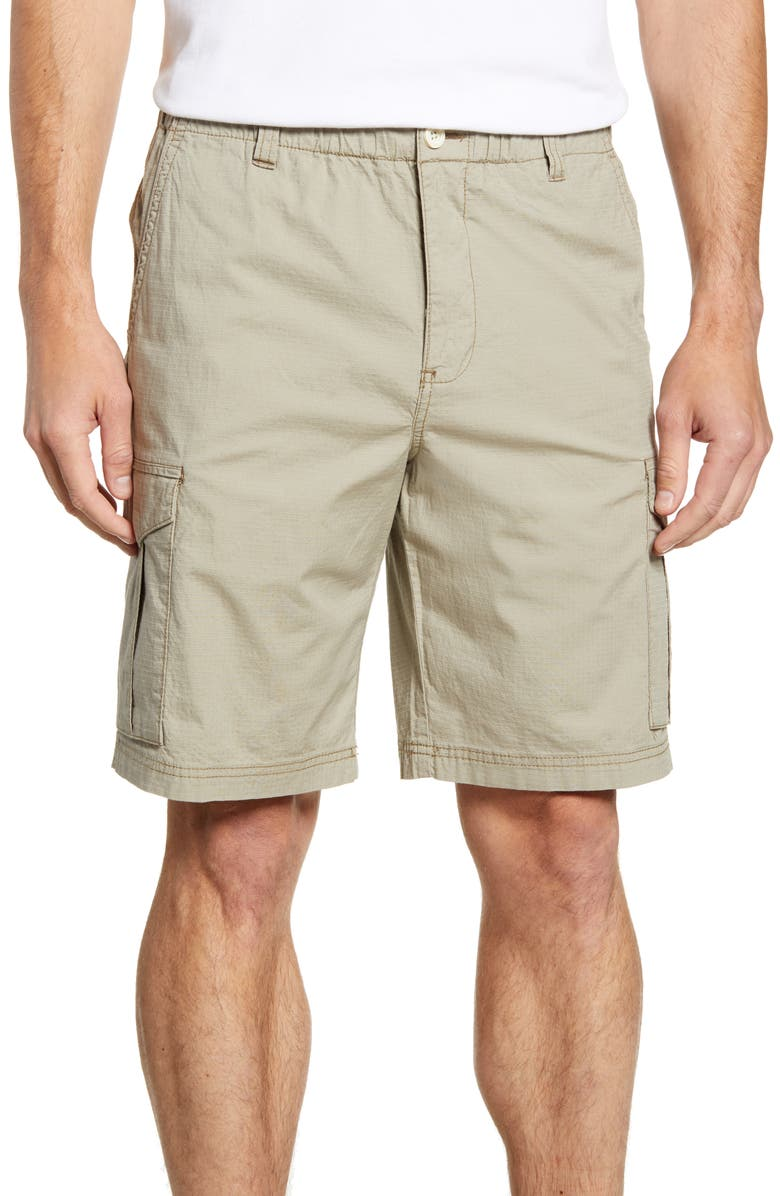 TOMMY BAHAMA Survivalist Ripstop Cargo Shorts, Main, color, DK SAND