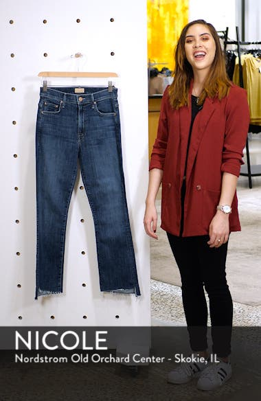 'The Insider' Crop Step Fray Jeans, sales video thumbnail