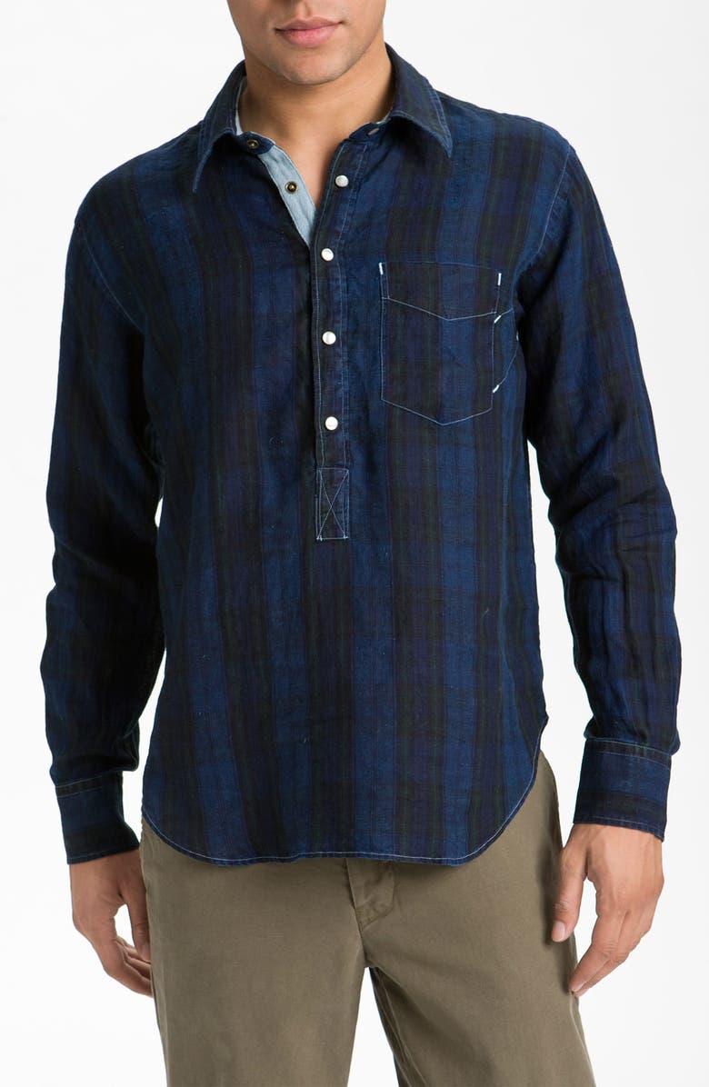 BILLY REID 'Popover' Linen Shirt, Main, color, 400