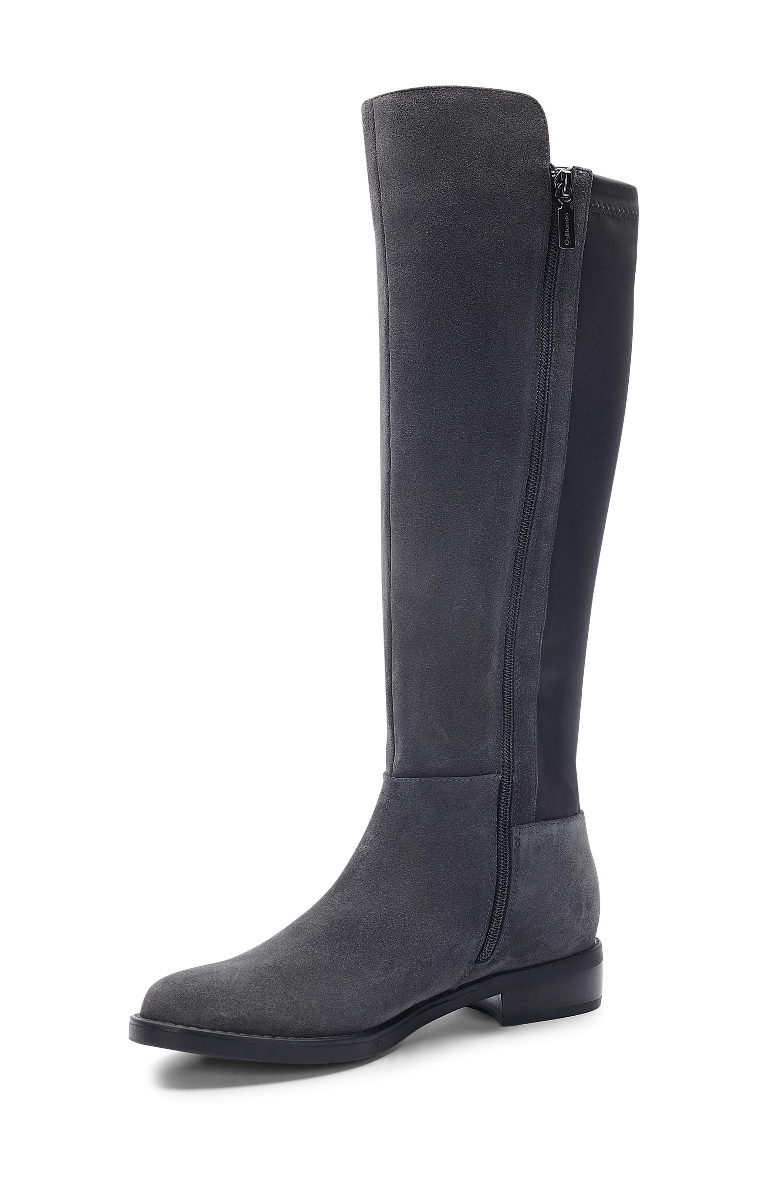 ,                             Ellie Waterproof Knee High Riding Boot,                             Alternate thumbnail 8, color,                             DARK GREY SUEDE
