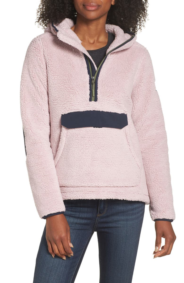 THE NORTH FACE Campshire High Pile Fleece Pullover Hoodie, Main, color, 510