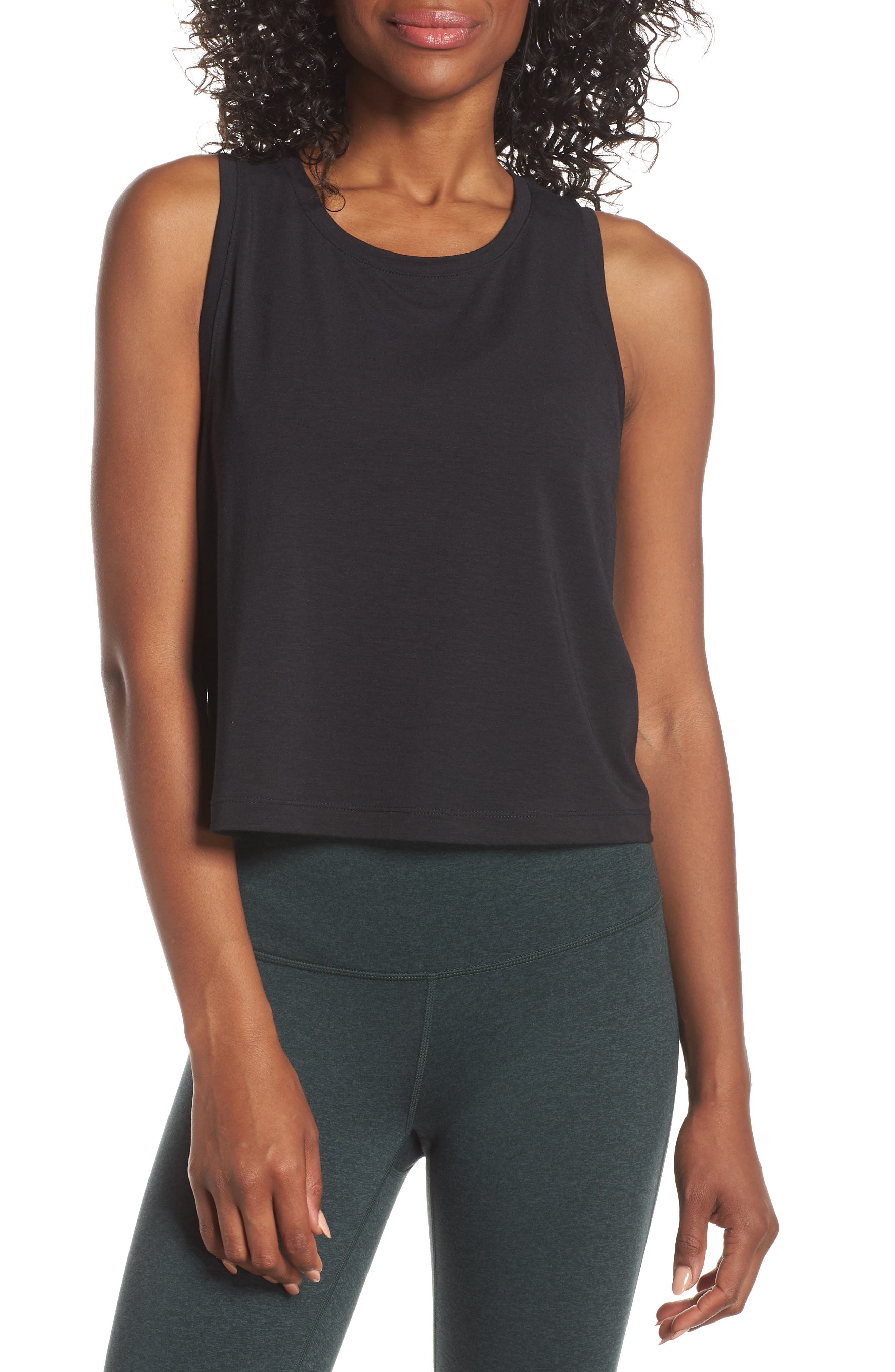 Work For It Tank, Main, color, BLACK