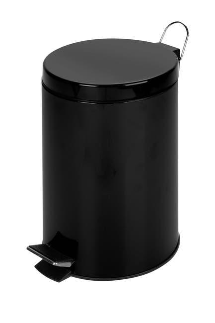 Image of Honey-Can-Do Matte Black Step Trash Can