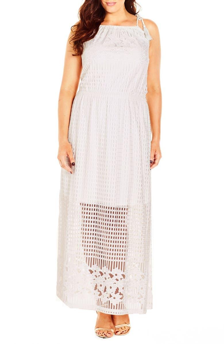 \'Lead Light\' Burnout Maxi Dress