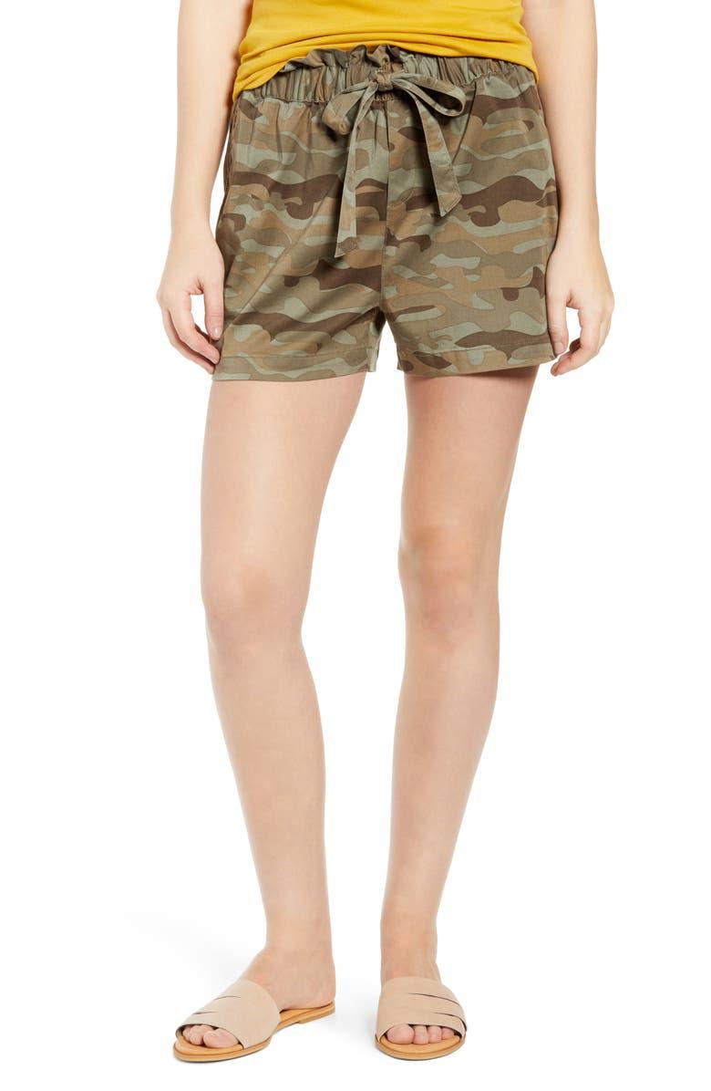 CASLON<SUP>®</SUP> Paperbag Waist Shorts, Main, color, 315
