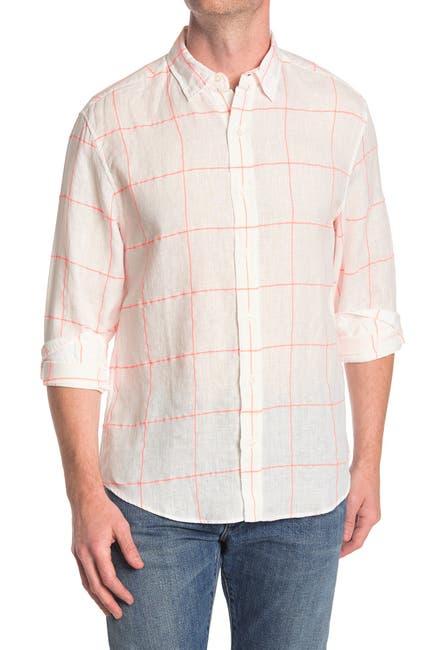Image of FRANK & EILEEN Finbar Windowpane Regular Fit Shirt