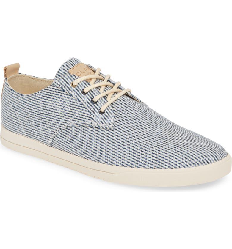 CLAE Ellington Sneaker, Main, color, NAVY/ WHITE FABRIC