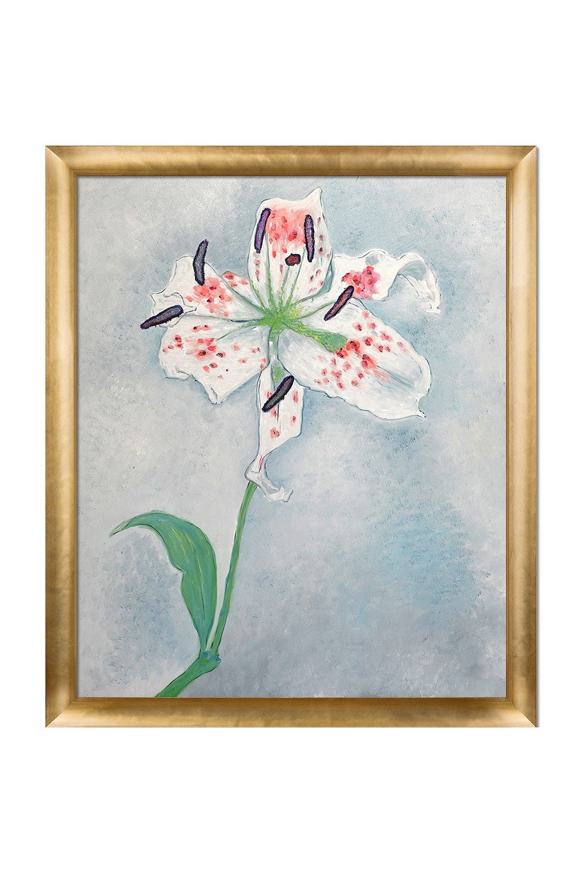 """Image of Overstock Art Lily with Gold Luminoso Frame, 23"""" x 27"""""""