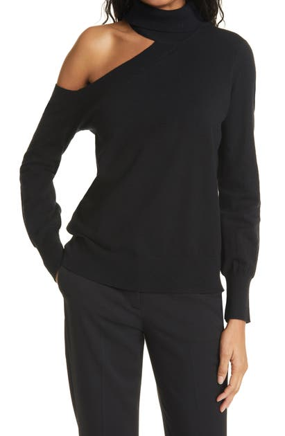 L Agence Sweaters EASTON ONE-SHOULDER SWEATER