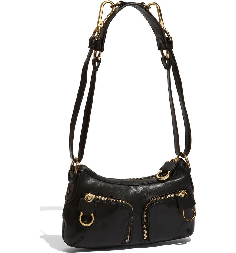 TED BAKER LONDON 'Zips' Leather Crossbody Bag, Main, color, 001